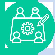 Öppen & Företags brainstorming att skapa Roadmaps.